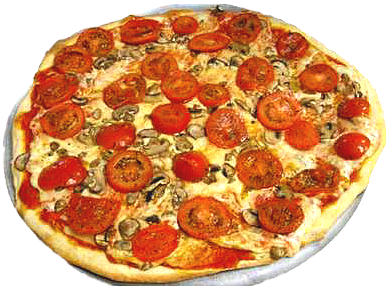 Tomato and Mushroom Pizza